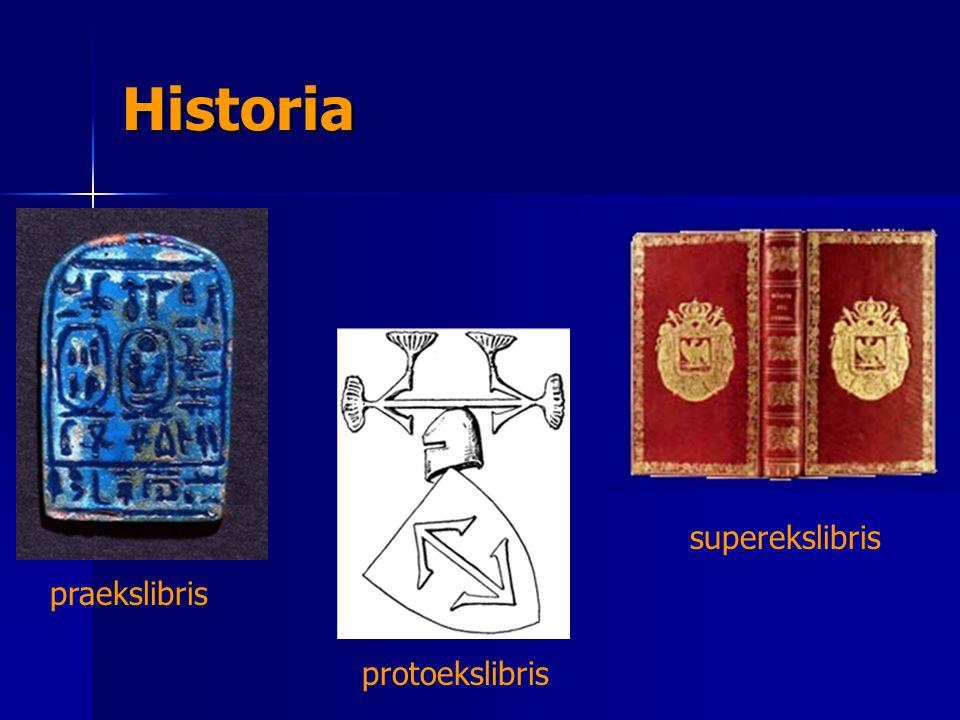 Historia superekslibris praekslibris protoekslibris