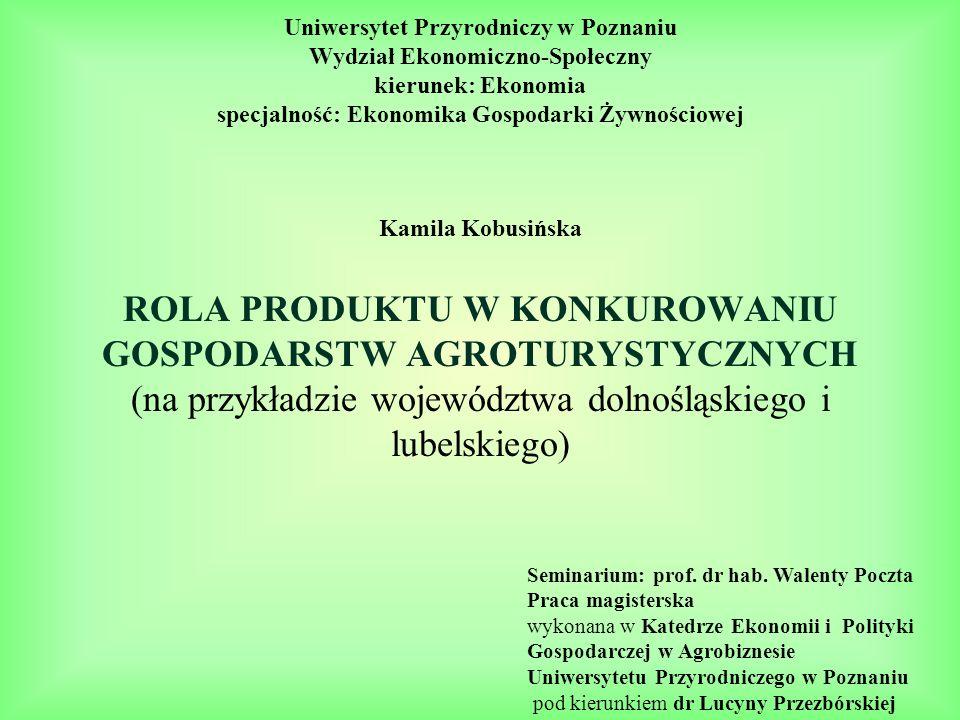 Uniwersytet Przyrodniczy w Poznaniu Wydział Ekonomiczno-Społeczny kierunek: Ekonomia specjalność: Ekonomika Gospodarki Żywnościowej