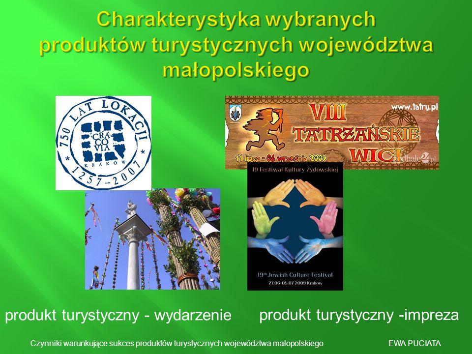 Charakterystyka wybranych produktów turystycznych województwa małopolskiego