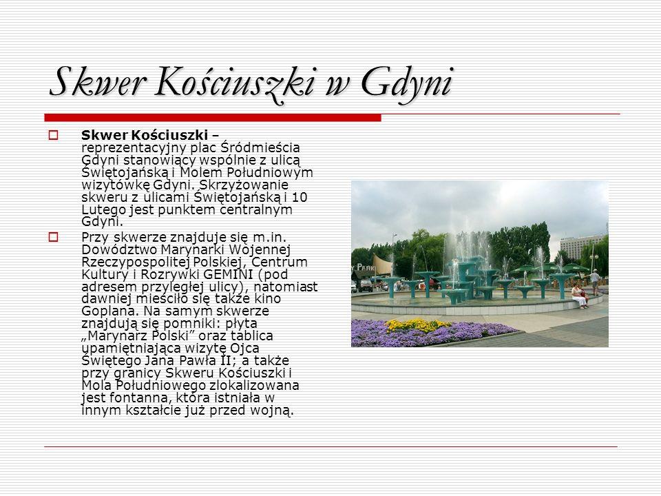 Skwer Kościuszki w Gdyni
