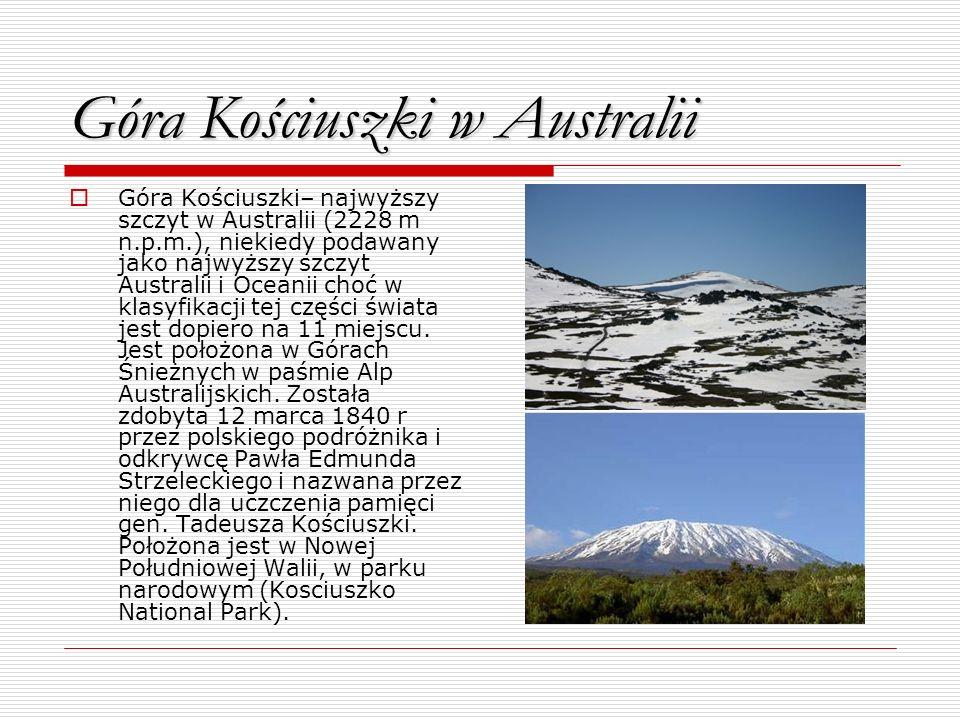 Góra Kościuszki w Australii