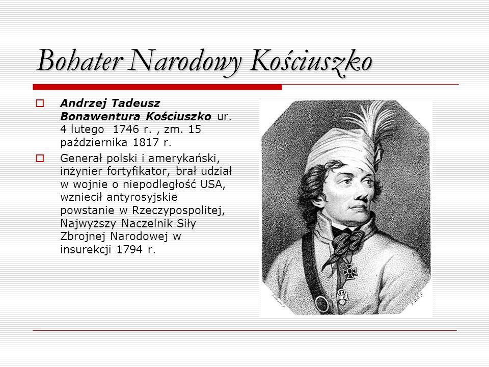 Bohater Narodowy Kościuszko