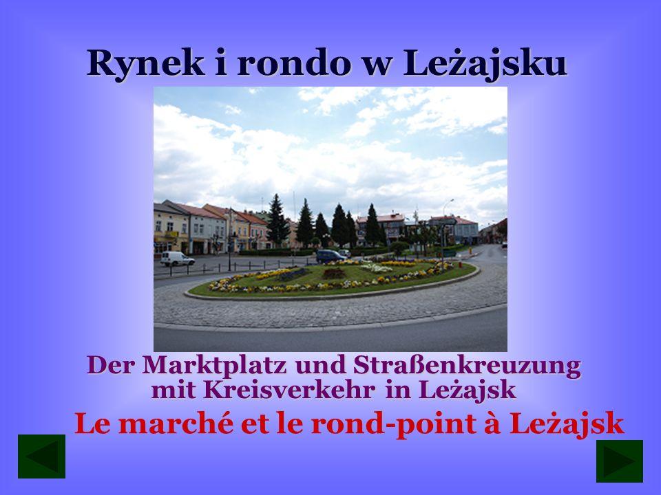 Rynek i rondo w Leżajsku