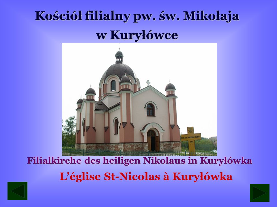 L'église St-Nicolas à Kuryłówka