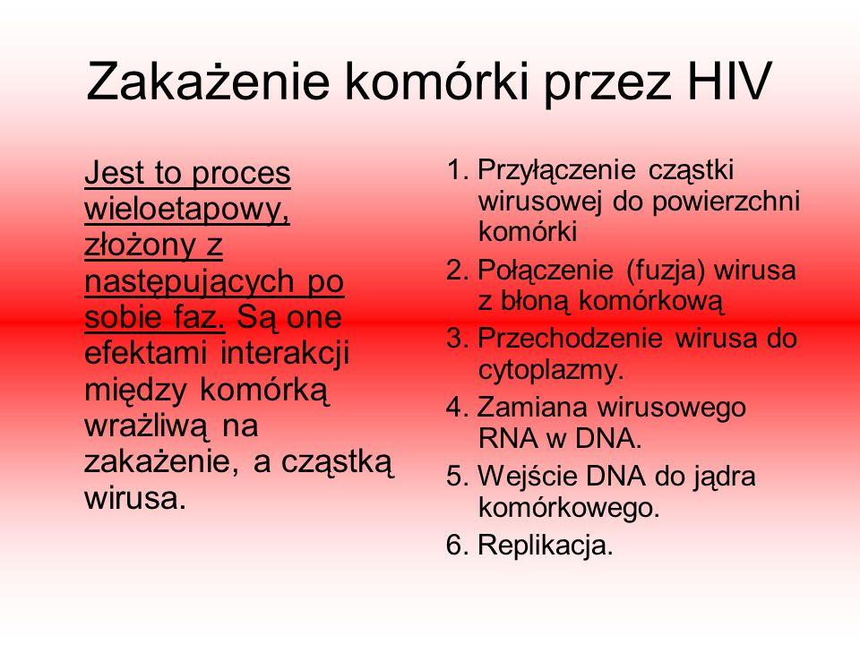 Zakażenie komórki przez HIV