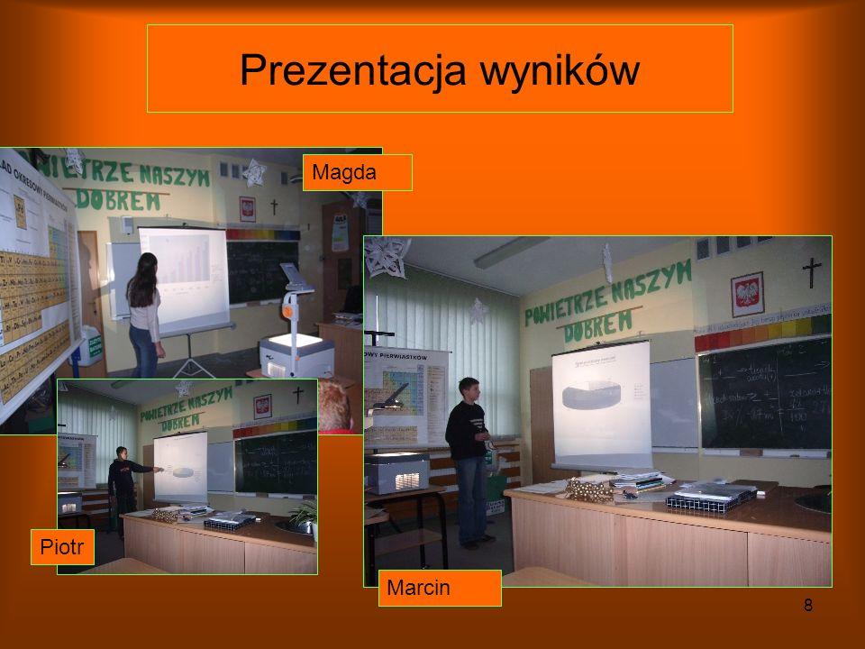 Prezentacja wyników Magda Piotr Marcin