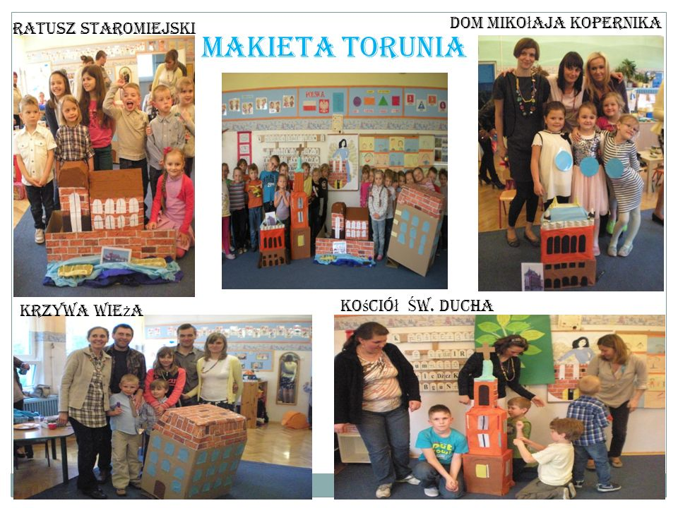 Makieta Torunia Dom Mikołaja Kopernika Ratusz staromiejski