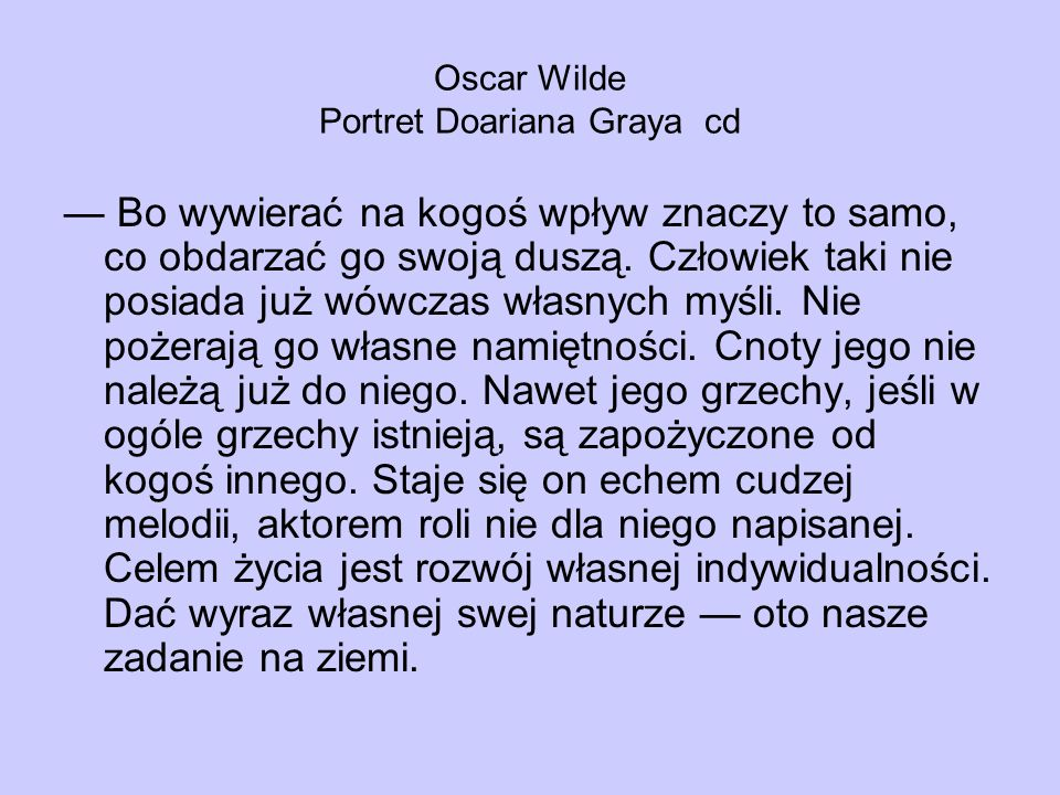 Oscar Wilde Portret Doariana Graya cd