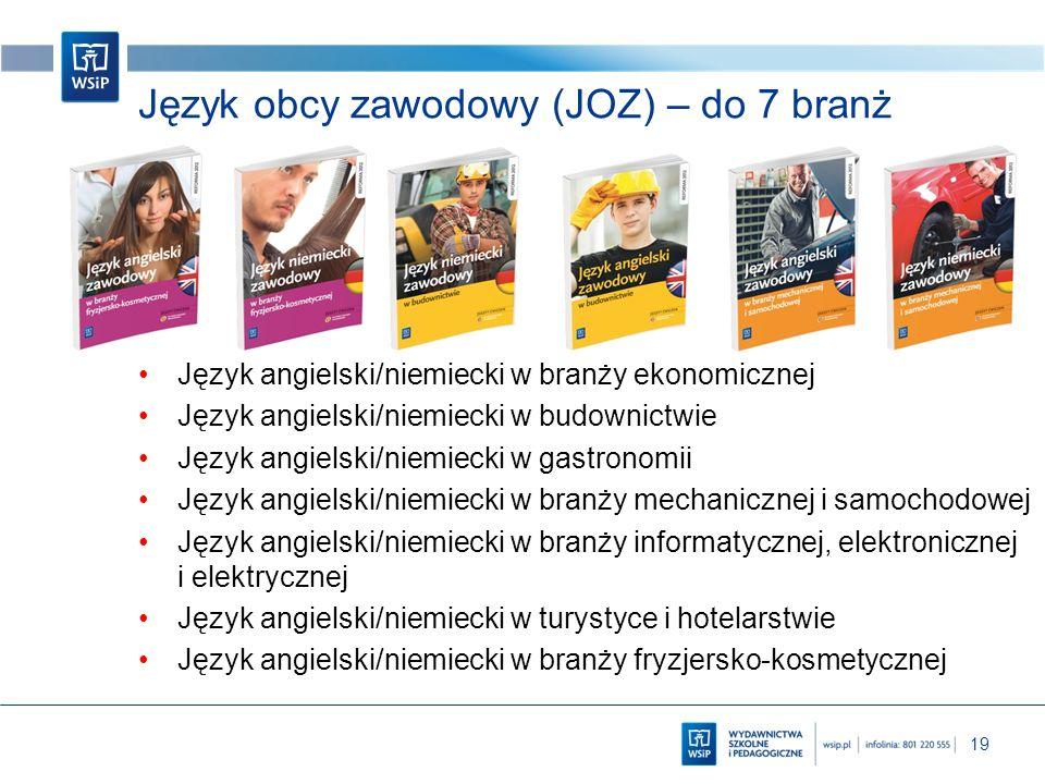 Język obcy zawodowy (JOZ) – do 7 branż