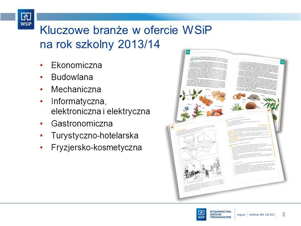 Kluczowe branże w ofercie WSiP na rok szkolny 2013/14