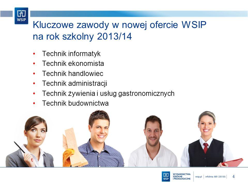 Kluczowe zawody w nowej ofercie WSIP na rok szkolny 2013/14