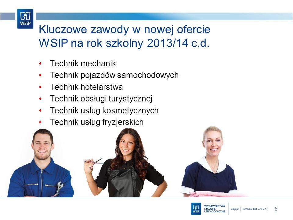 Kluczowe zawody w nowej ofercie WSIP na rok szkolny 2013/14 c.d.