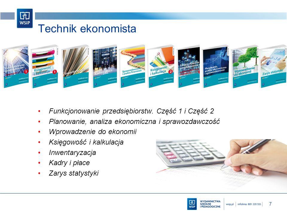 Technik ekonomista Funkcjonowanie przedsiębiorstw. Część 1 i Część 2