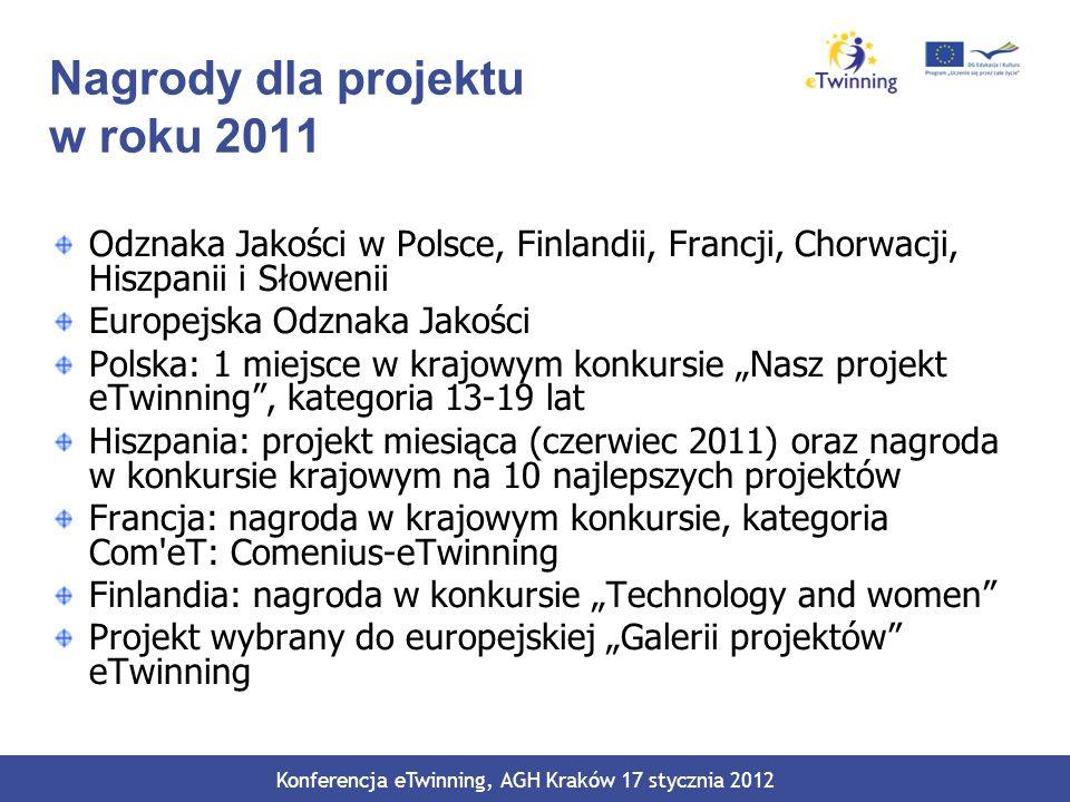 Nagrody dla projektu w roku 2011