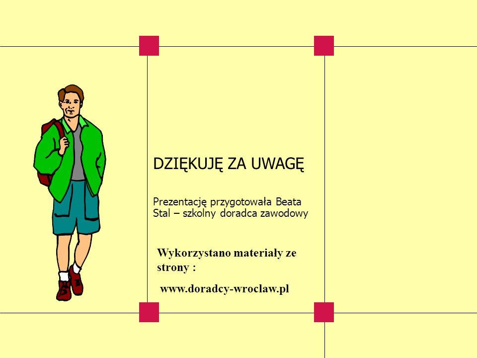 DZIĘKUJĘ ZA UWAGĘ Wykorzystano materiały ze strony :