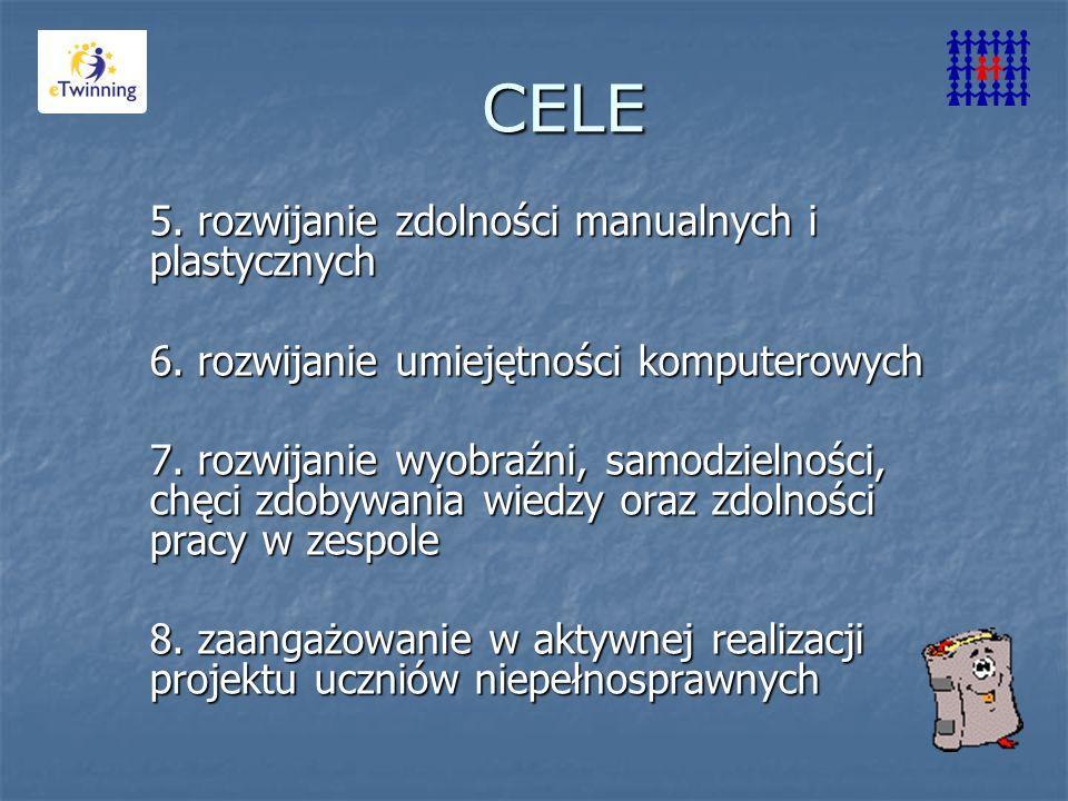 CELE 5. rozwijanie zdolności manualnych i plastycznych