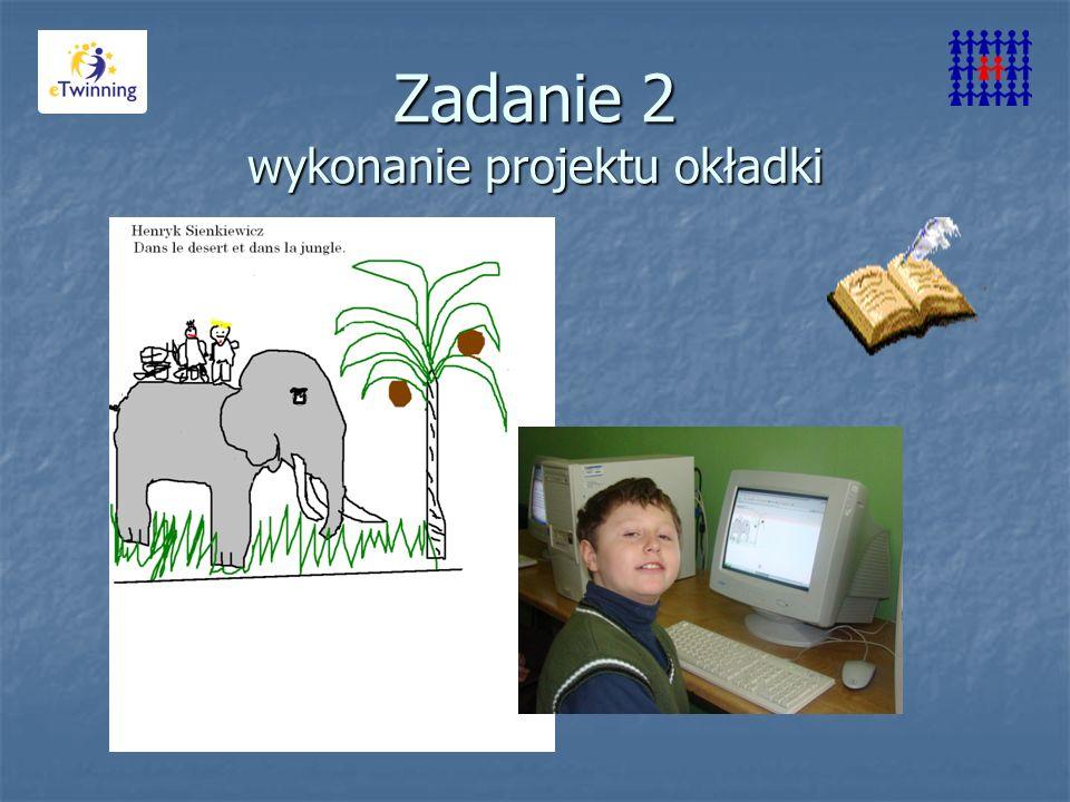 Zadanie 2 wykonanie projektu okładki