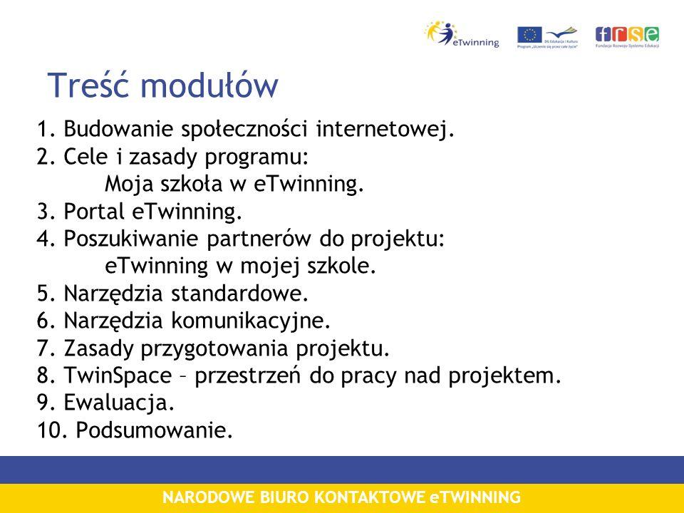 Treść modułów 1. Budowanie społeczności internetowej.