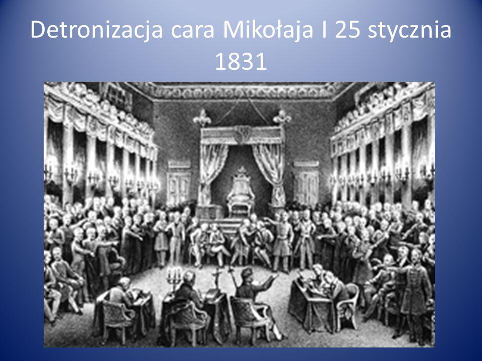 Detronizacja cara Mikołaja I 25 stycznia 1831