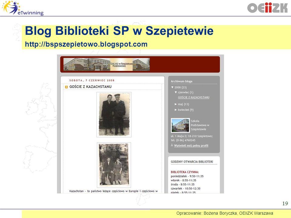 Blog Biblioteki SP w Szepietewie http://bspszepietowo.blogspot.com