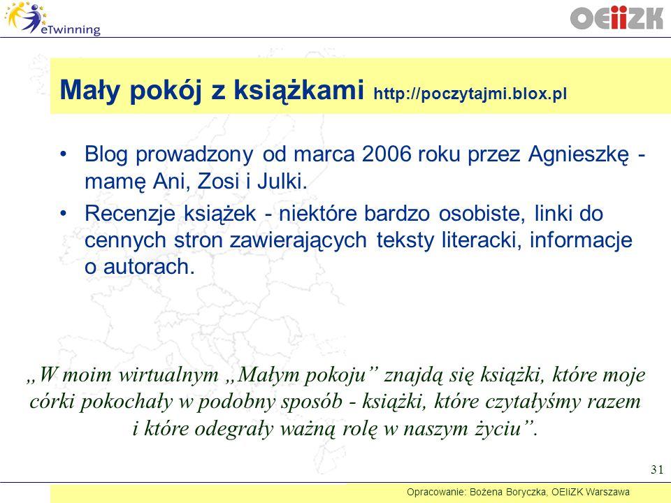 Mały pokój z książkami http://poczytajmi.blox.pl