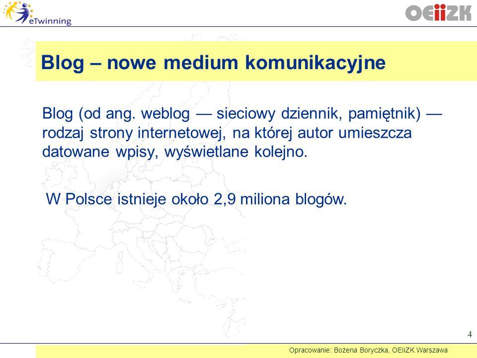 Blog – nowe medium komunikacyjne
