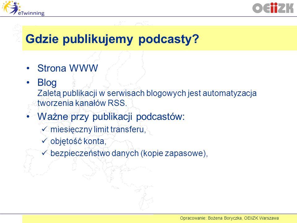 Gdzie publikujemy podcasty