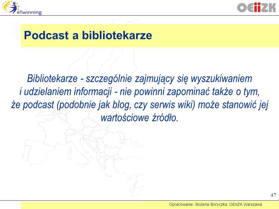 Podcast a bibliotekarze