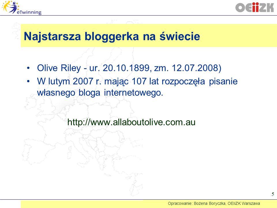 Najstarsza bloggerka na świecie