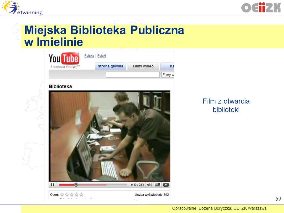 Miejska Biblioteka Publiczna w Imielinie