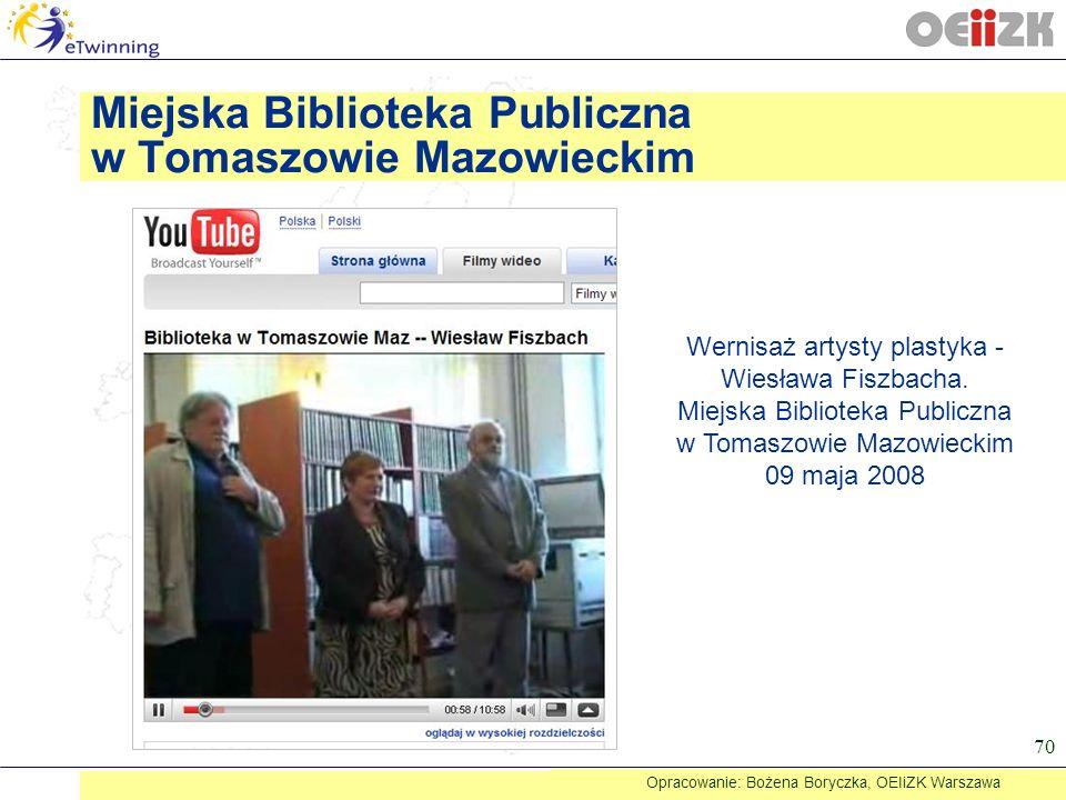 Miejska Biblioteka Publiczna w Tomaszowie Mazowieckim