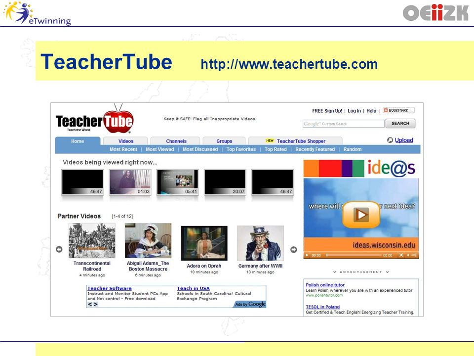 TeacherTube http://www.teachertube.com