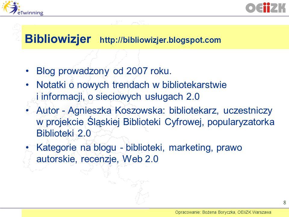 Bibliowizjer http://bibliowizjer.blogspot.com