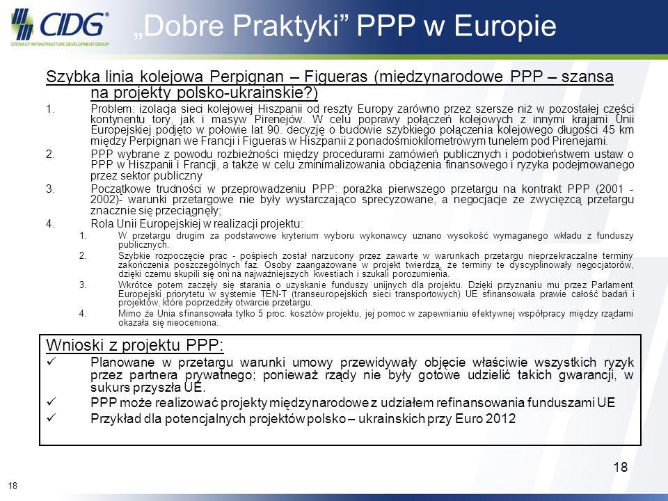 """""""Dobre Praktyki PPP w Europie"""