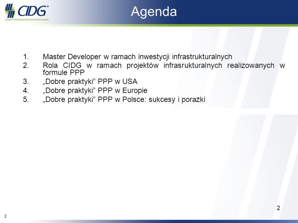 Agenda Master Developer w ramach inwestycji infrastrukturalnych