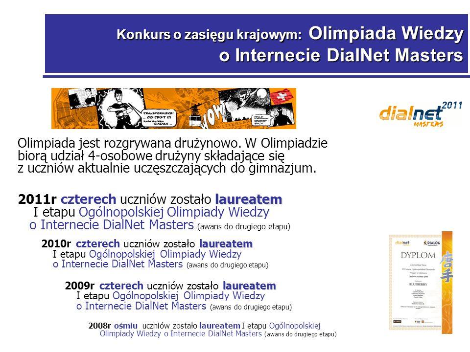 Konkurs o zasięgu krajowym: Olimpiada Wiedzy o Internecie DialNet Masters