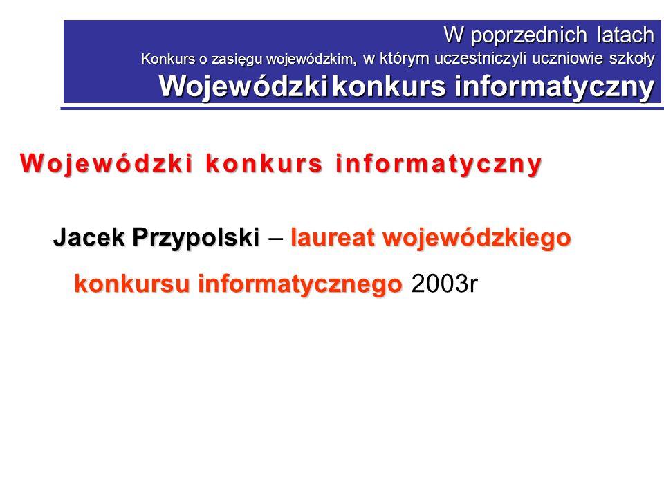 Wojewódzki konkurs informatyczny