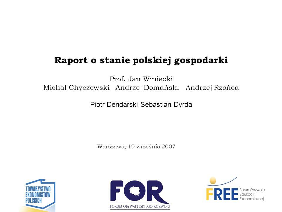 Raport o stanie polskiej gospodarki