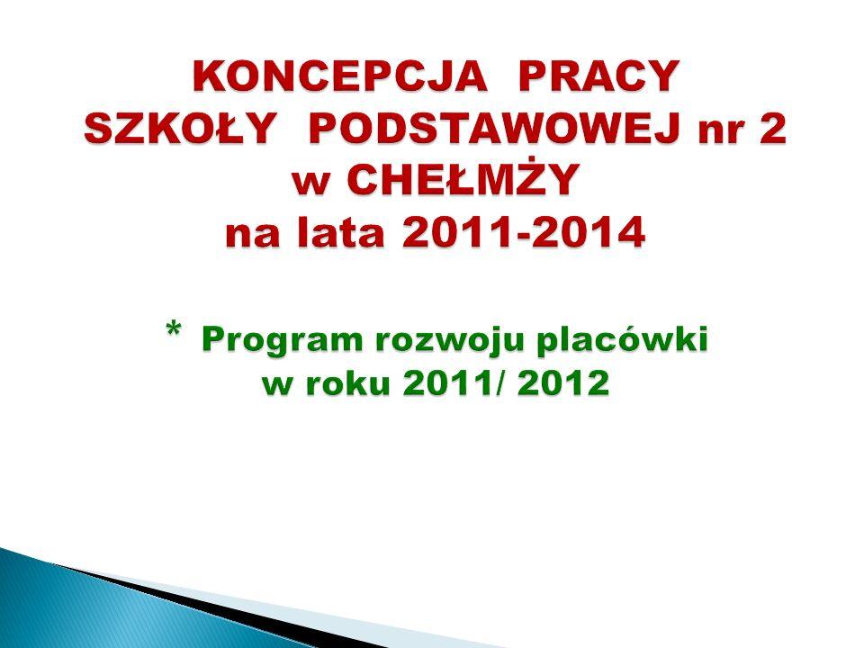 KONCEPCJA PRACY SZKOŁY PODSTAWOWEJ nr 2 w CHEŁMŻY na lata 2011-2014