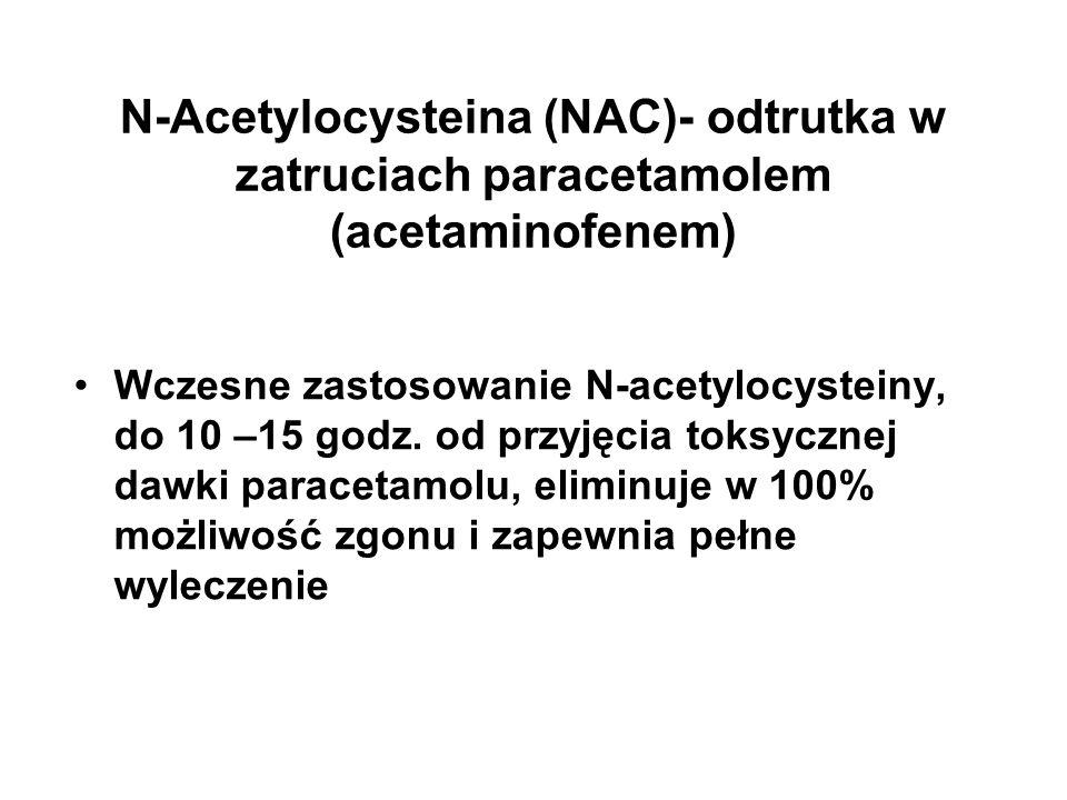 N-Acetylocysteina (NAC)- odtrutka w zatruciach paracetamolem (acetaminofenem)