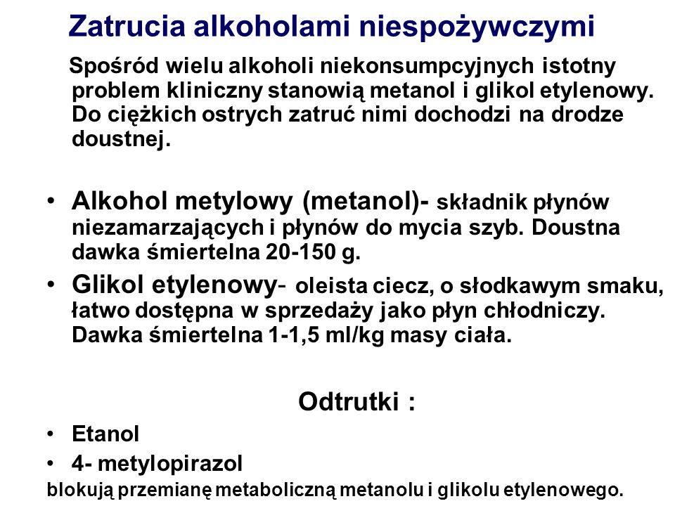 Zatrucia alkoholami niespożywczymi