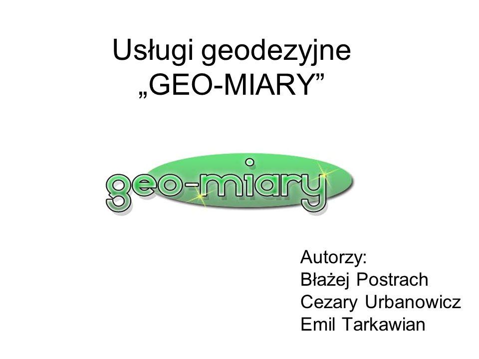 """Usługi geodezyjne """"GEO-MIARY"""