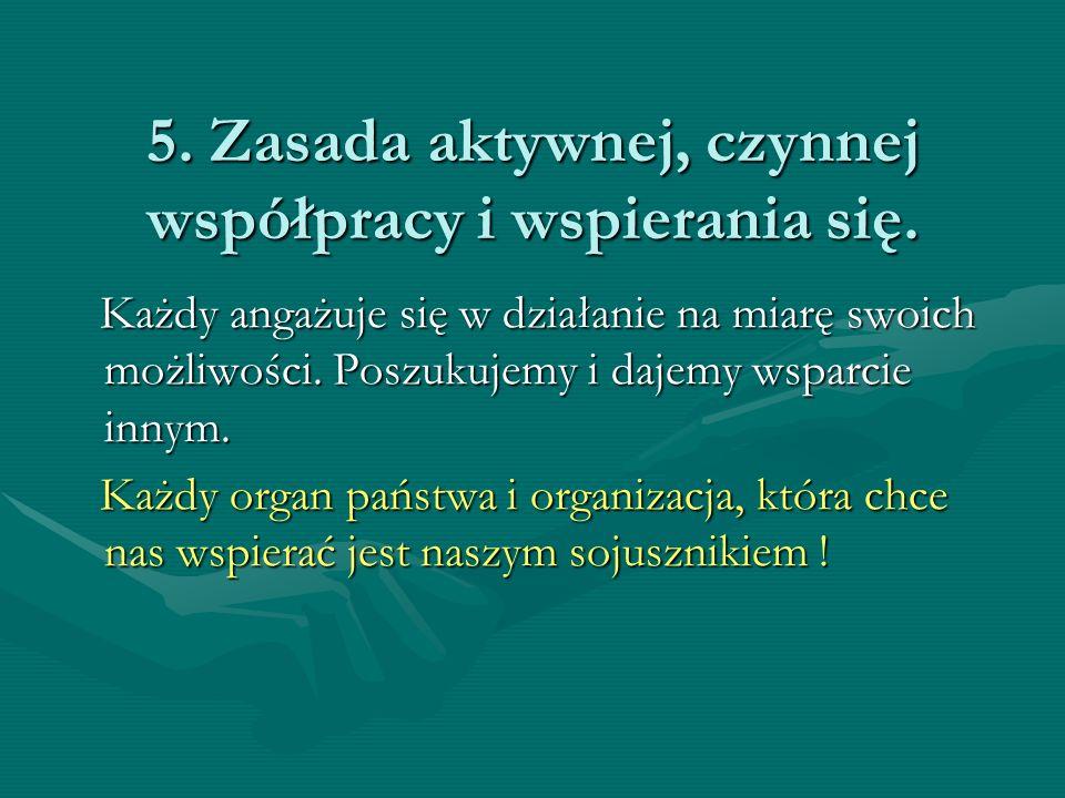 5. Zasada aktywnej, czynnej współpracy i wspierania się.