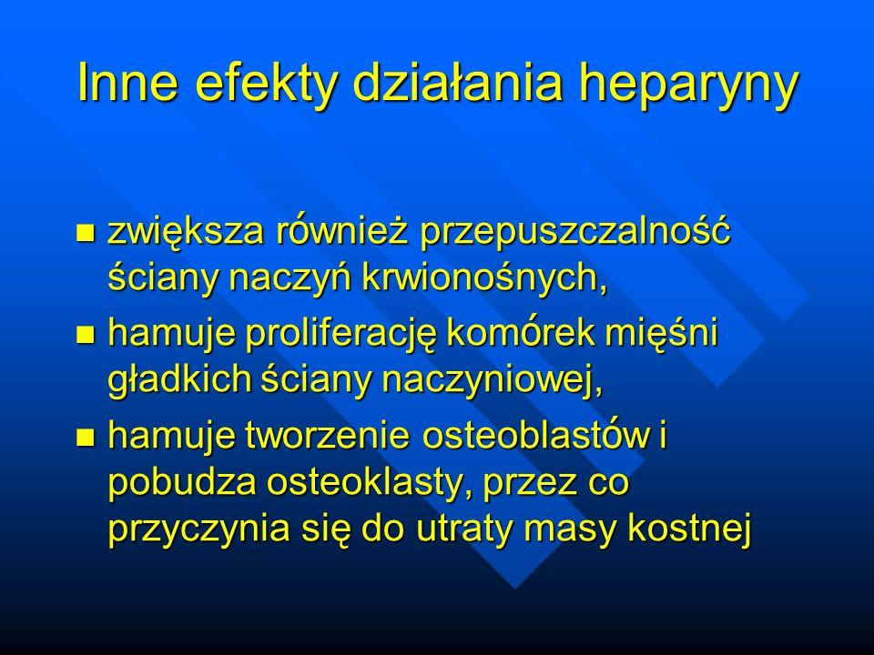 Inne efekty działania heparyny