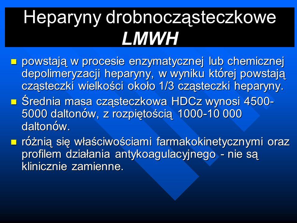 Heparyny drobnocząsteczkowe LMWH