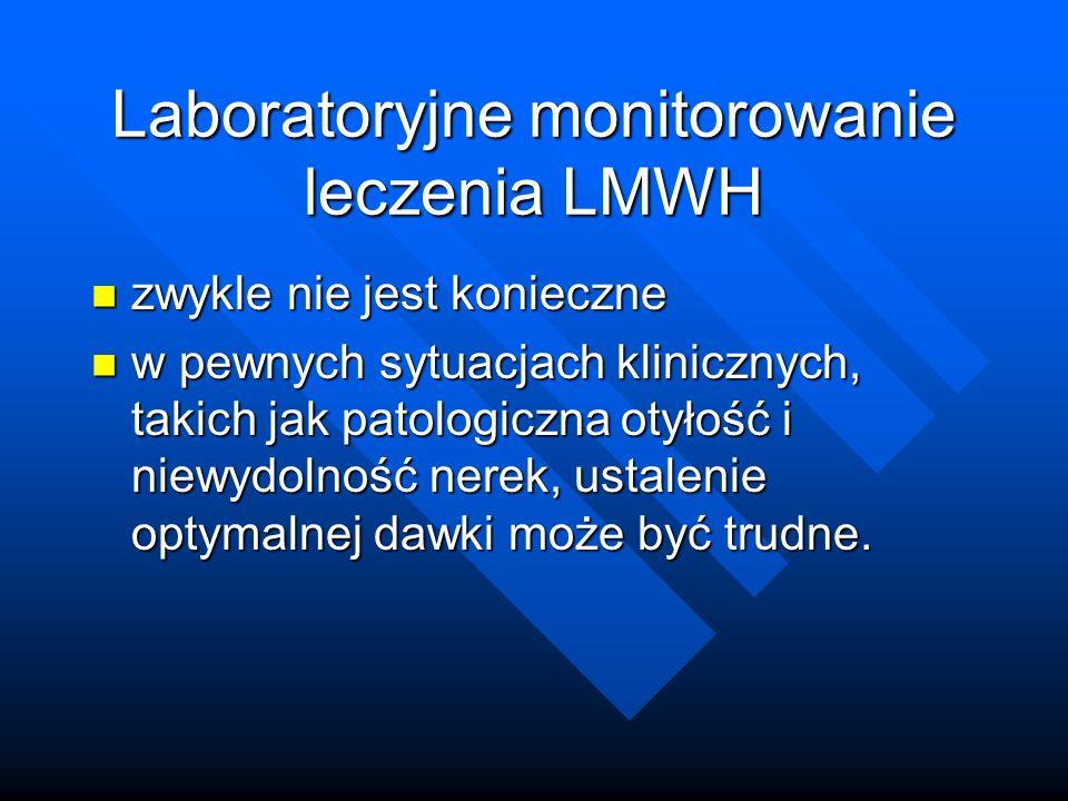 Laboratoryjne monitorowanie leczenia LMWH