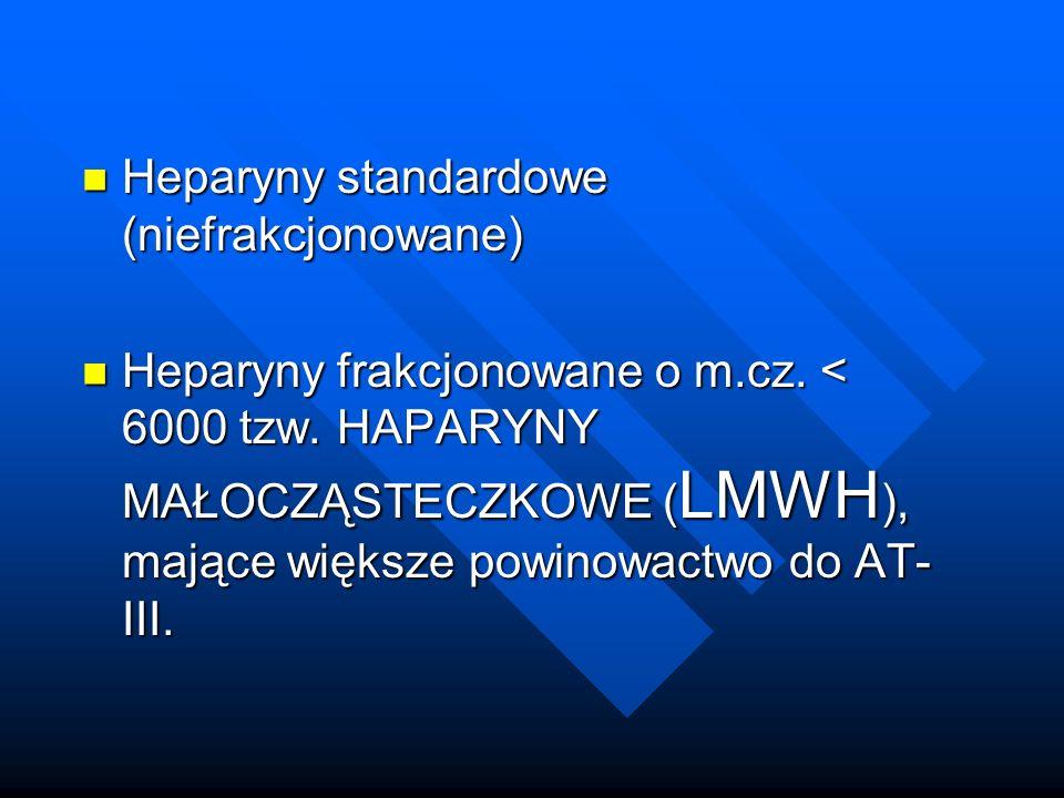 Heparyny standardowe (niefrakcjonowane)