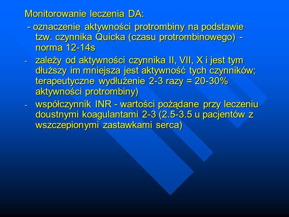Monitorowanie leczenia DA: