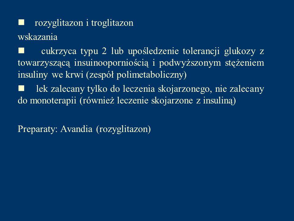 n rozyglitazon i troglitazon