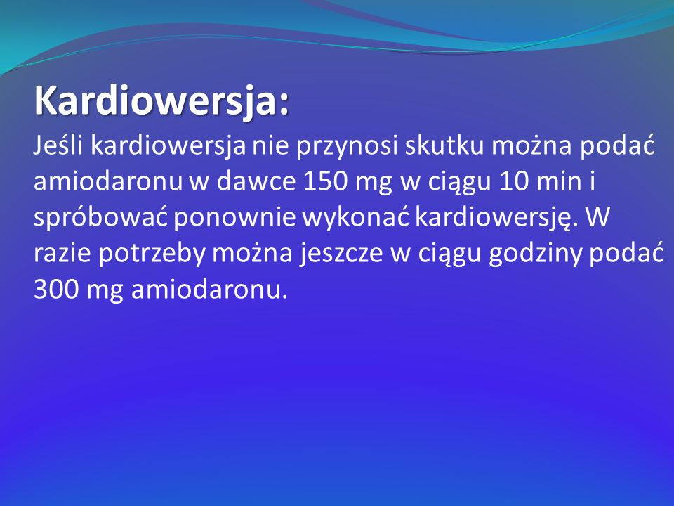Kardiowersja: